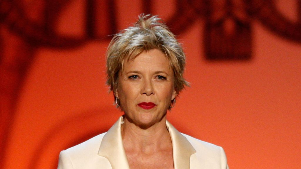 CULVER CITY, CA - JUNE 11: Actress Annette Bening speaks onstage during the AFI Life Achievement Award: A Tribute to Michael Douglas at Sony Pictures Studios on June 11, 2009 in Culver City, California. (Photo by Kevin Winter/Getty Images for AFI)