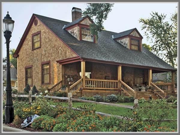 rumah gaya rustic