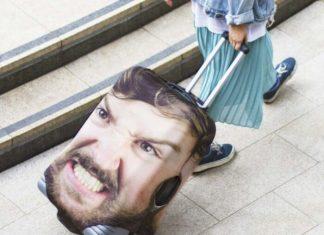 cetak wajah di koper agar tak tertukar head case
