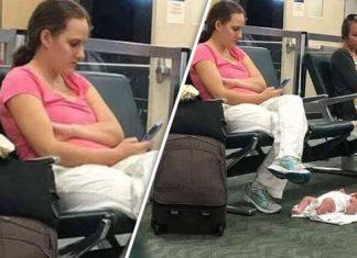 Dihujat Karena Letakkan Bayinya di Lantai Bandara, Ibu Ini Ungkap Fakta Sebenarnya-cover