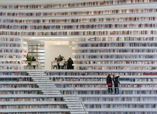 China Membuka Binhai Public Library, Perpustakaan Terkeren di Dunia