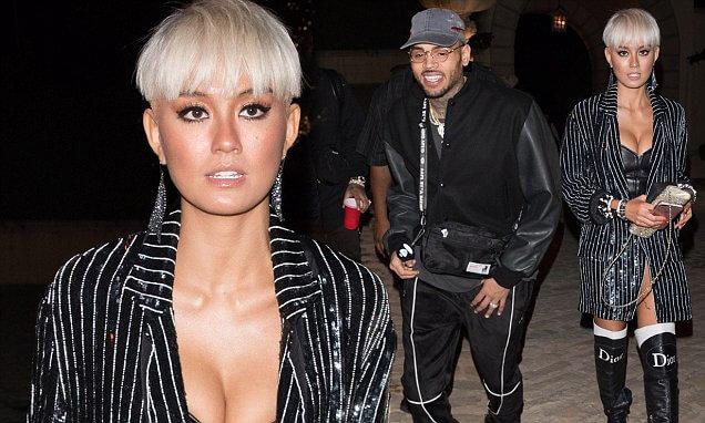 Datang Bareng ke Ultah DJ Khaled, Isu Kedekatan Agnez Mo dan Chris Brown Makin Ramai