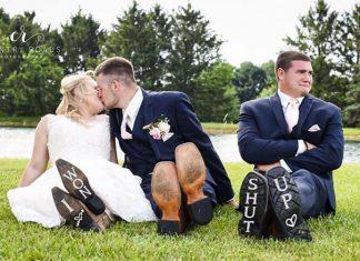 Pria Ini Ajak Sahabatnya Ikut Foto Pertunangan dan Pernikahan