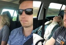 Usil Banget! Pria Ini Kumpulkan Foto Istrinya yang Tidur Pulas di Mobil