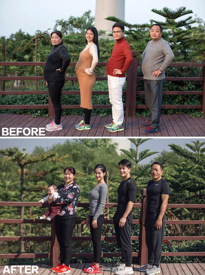 Diet Bareng Keluarga Selama 6 Bulan, Begini Potret Sebelum dan Sesudahnya