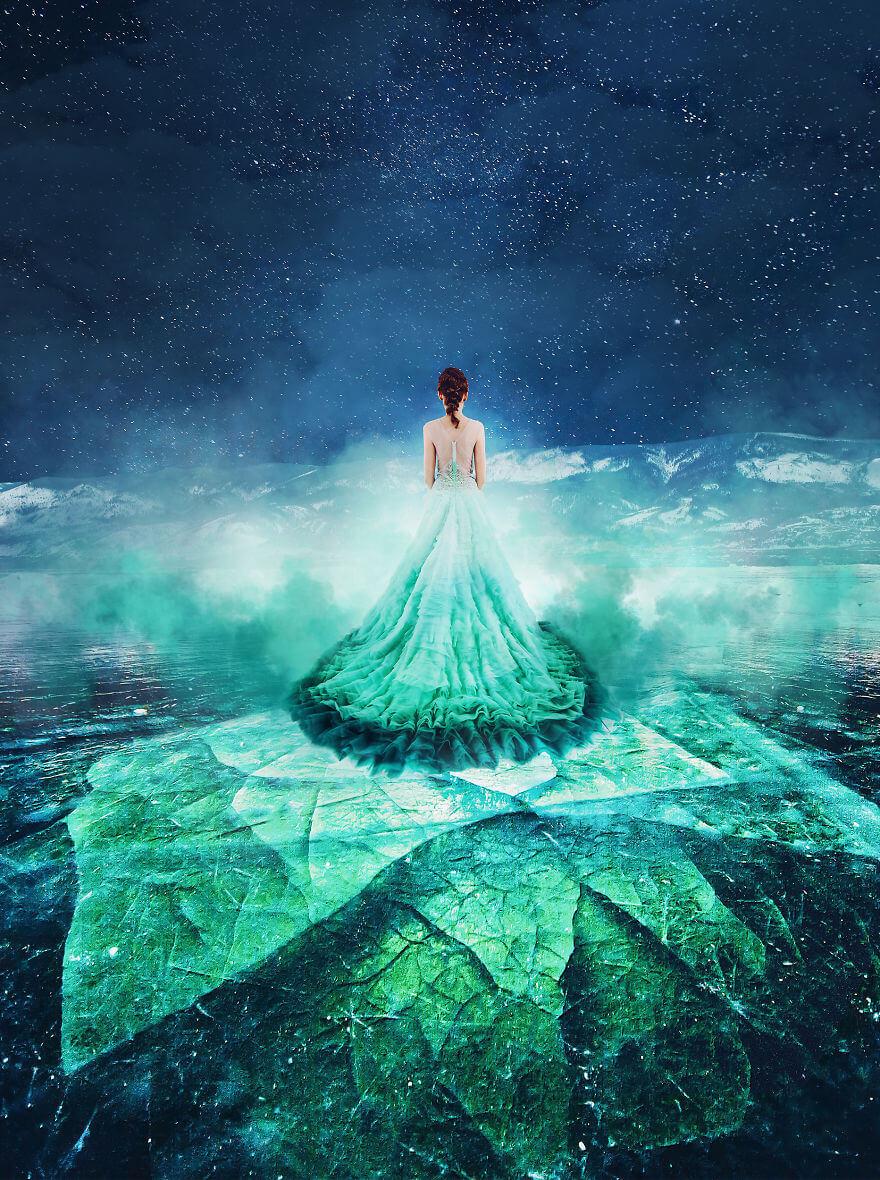 Membeku, Danau Terbersih dan Terdalam di Dunia Ini Semakin Memukau