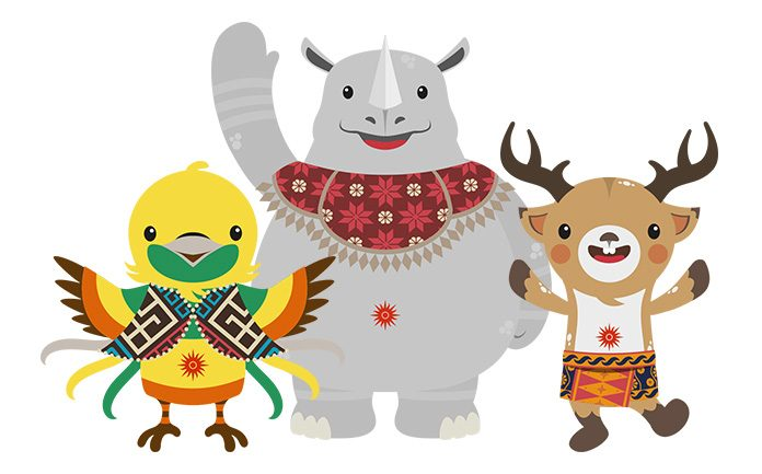 1 WEB Maskot Asian Games 2018 696x433 - Gambar Asian Games 2018