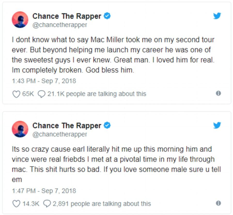 Rapper Amerika Serikat Mac Miller Meninggal Dunia Pada Usia 26 Tahun