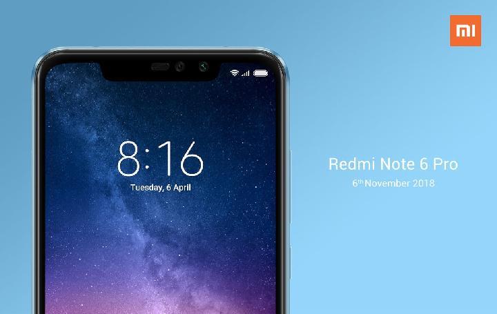 Xiaomi Redmi Note 6 Pro Hadir di Indonesia Awal November, Ini Spesifikasinya