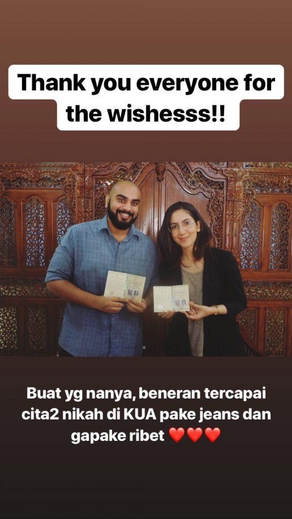 Resmi Menikah, Busana Suhay Salim Saat Akad di KUA Bikin Heboh!
