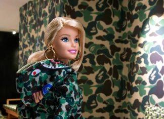 Keren! Barbie Tampil Hypebeast di Kolaborasi Barbie x Bape
