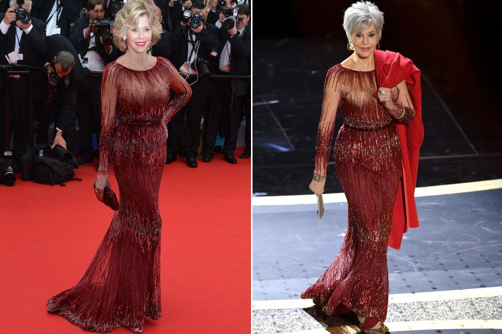 Jane Fonda Kenakan Kembali Gaun 6 Tahun yang Lalu di Oscar 2020