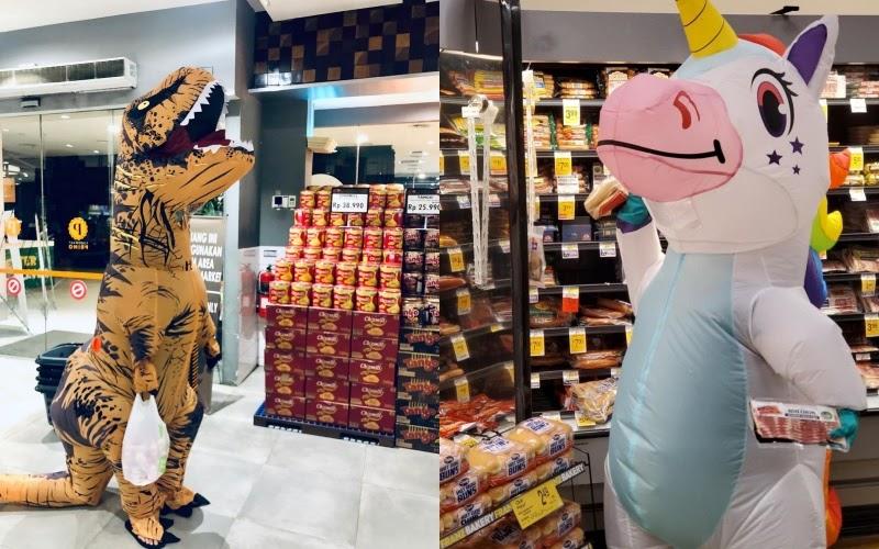 Tidak Hanya Kostum Dinosaurus dan Unicorn Saja, Ini 10 APD Kreatif Ala Netizen