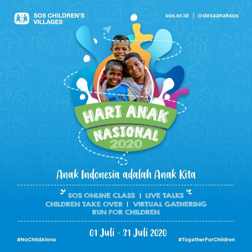 Hari Anak Nasional 2020 di Tengah Pandemi, SOS Children's Villages Memastikan Hak Anak-Anak Indonesia Terpenuhi
