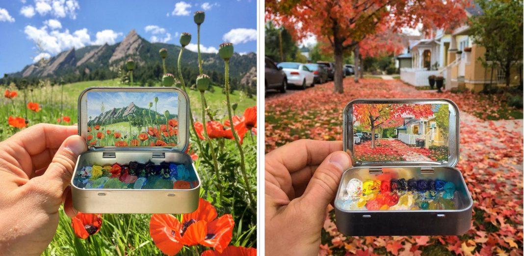 Seniman Ini Rekam Pemandangan Alam dalam Sebuah Miniatur