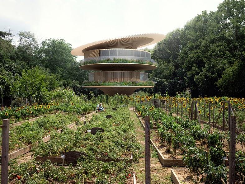 Rumah Berbentuk Bunga Matahari Bisa Bergerak, Cantik dan Ramah Lingkungan