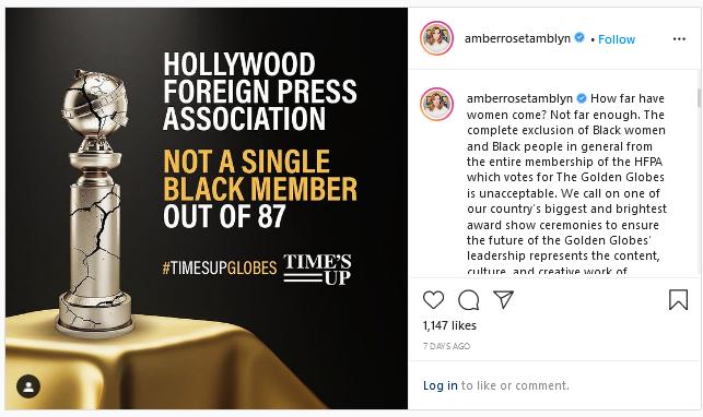Hashtag #TIMESUPGlobes dan Isu Rasisme Di Golden Globes
