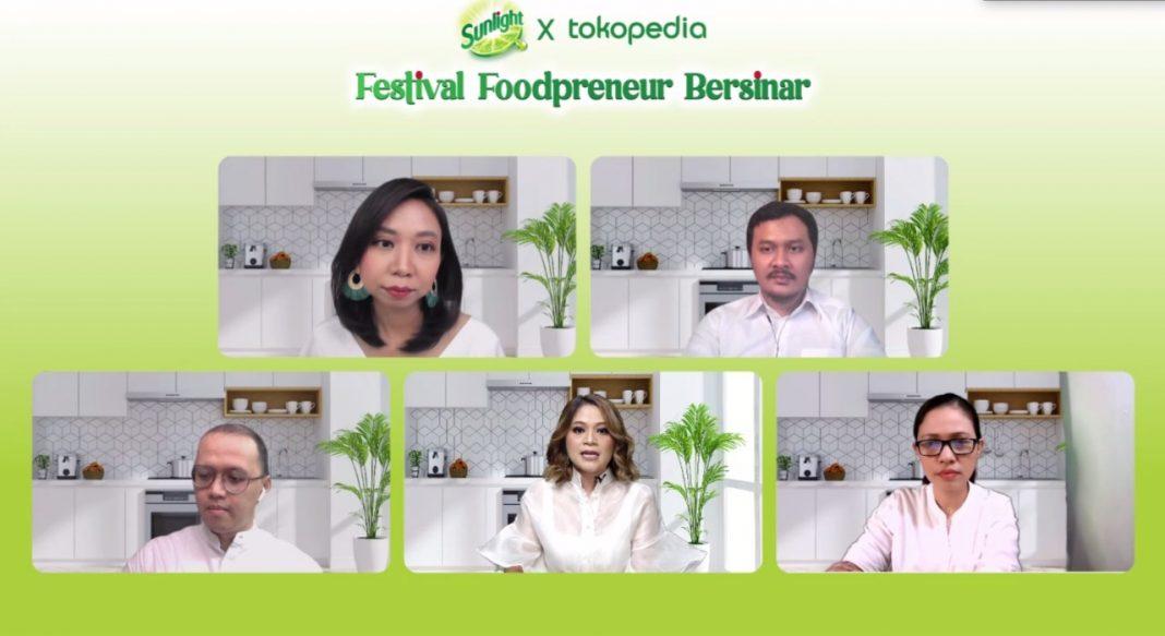 Festival Foodpreneur Bersinar, Kolaborasi Sunlight dan Tokopedia, Dukung Perempuan Indonesia Jadi Pengusaha Kuliner Digital